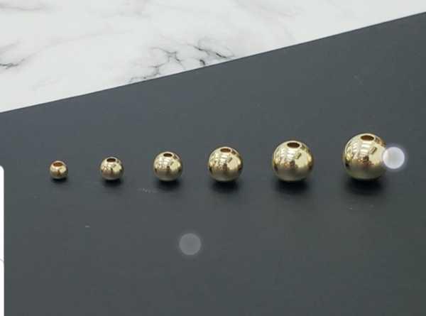 Balines en oro laminado 4mm (garantizado)