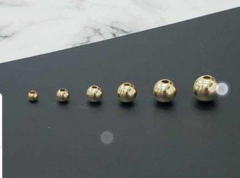 Balines en oro laminado garantizado 8mm