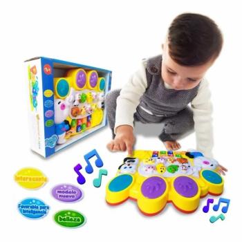 Piano musical para bebé juguete didáctico de animales