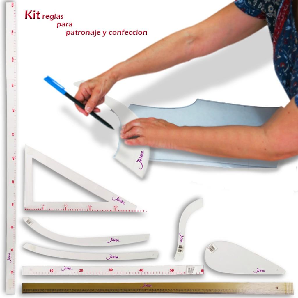 Kit Reglas Costura Coser Corte Curva Moda Regla