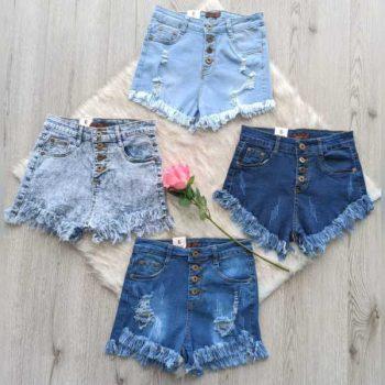 Short tiro alto en jeans licrado